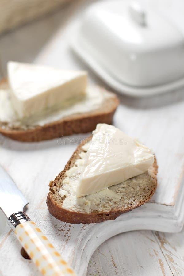 Ψωμί με το τυρί κρέμας στοκ φωτογραφίες με δικαίωμα ελεύθερης χρήσης