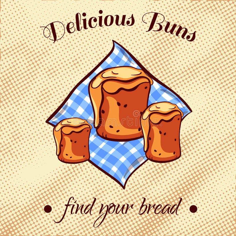 Ψωμί σε μια πετσέτα 16 απεικόνιση αποθεμάτων
