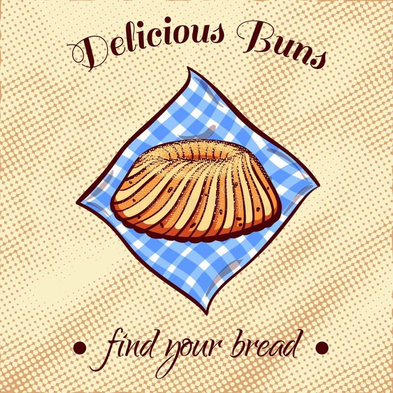 Ψωμί σε μια πετσέτα 20 απεικόνιση αποθεμάτων