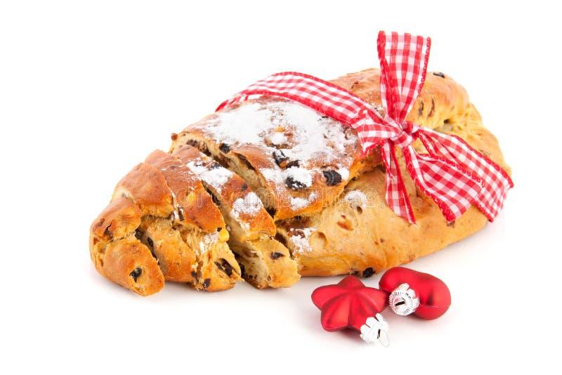 Ψωμί σταφίδων για τα Χριστούγεννα στοκ φωτογραφίες