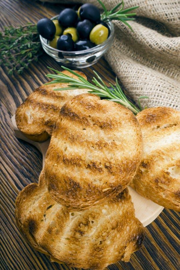 Ψωμί φρυγανιάς φετών στοκ εικόνες