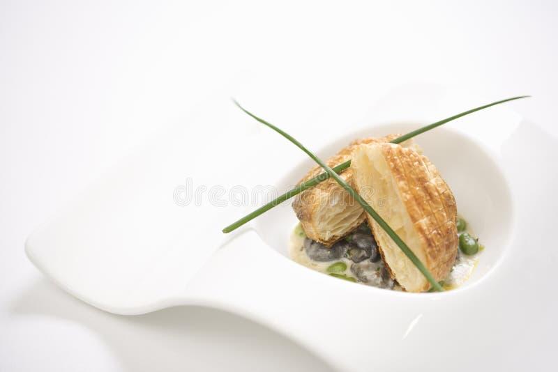 ψωμί croute escargot στοκ φωτογραφία