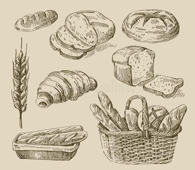 Ψωμί doodle ελεύθερη απεικόνιση δικαιώματος