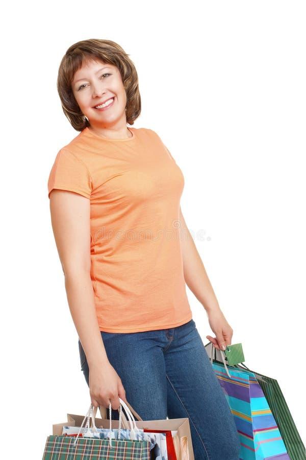 ψωνίζοντας γυναίκα στοκ φωτογραφία