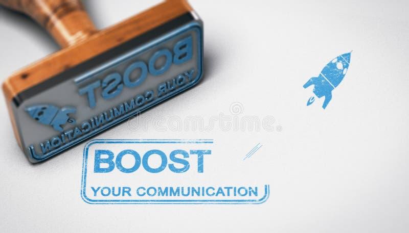 Ωθήστε την επικοινωνία επιχείρησής σας, διαφημιστικός την έννοια ελεύθερη απεικόνιση δικαιώματος