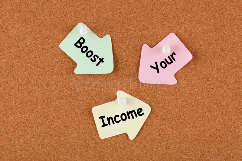 Ωθήστε το εισόδημά σας στοκ εικόνες