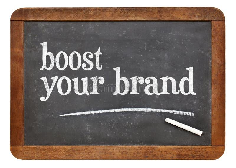 Ωθήστε το εμπορικό σήμα σας στον πίνακα στοκ φωτογραφίες