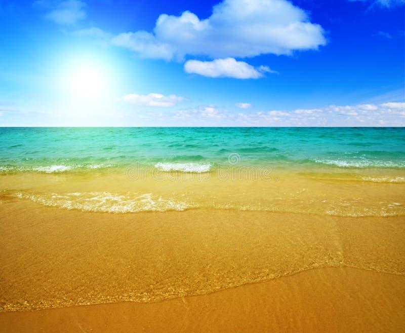ωκεάνια άμμος στοκ εικόνες με δικαίωμα ελεύθερης χρήσης
