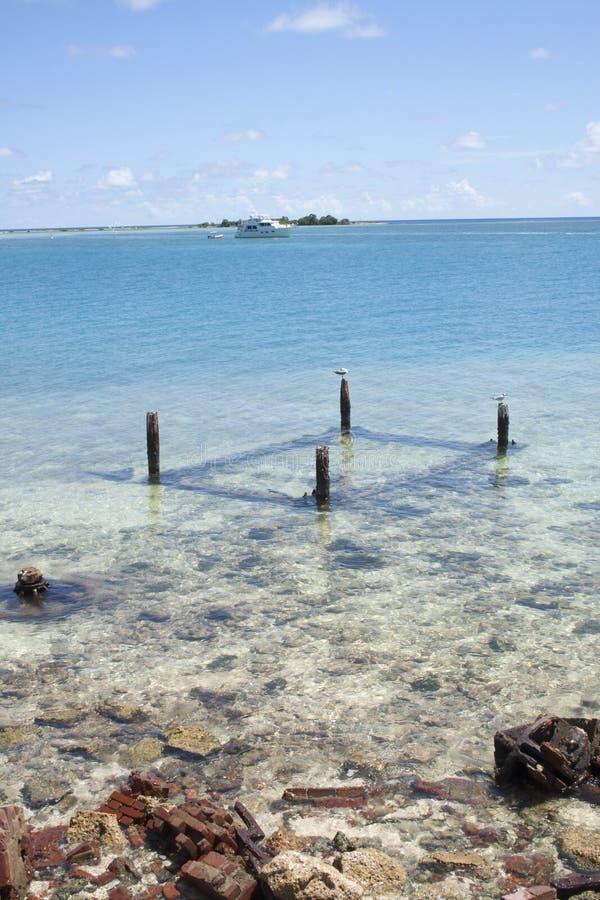 Ωκεάνια άποψη στο ξηρό εθνικό πάρκο Tortugas στοκ εικόνα με δικαίωμα ελεύθερης χρήσης