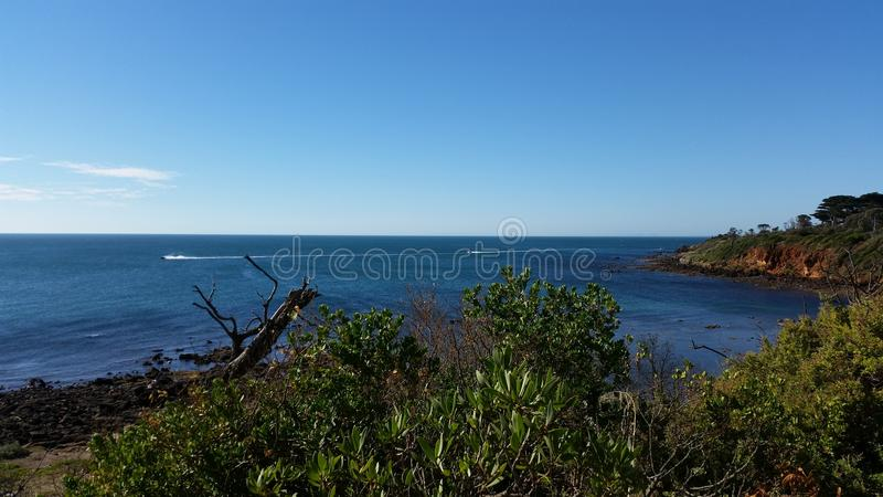Ωκεάνια άποψη Mornington το καλοκαίρι στοκ φωτογραφία με δικαίωμα ελεύθερης χρήσης