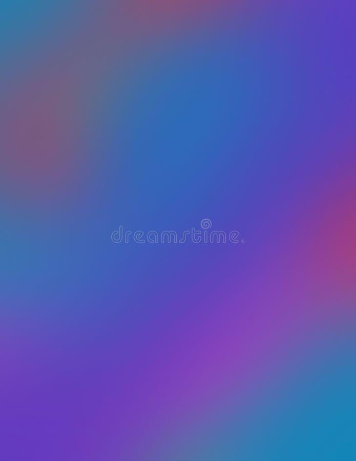 Ωκεάνια θαμπάδα  μπλε και purples, με μια αφή του φλογερού κοκκίνου διανυσματική απεικόνιση