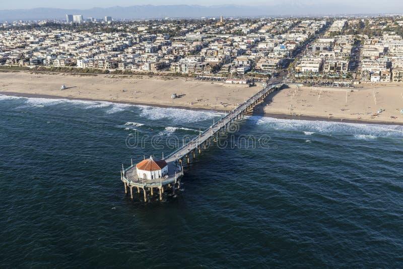 Ωκεάνια κεραία αποβαθρών Καλιφόρνιας Μανχάταν Μπιτς στοκ εικόνα