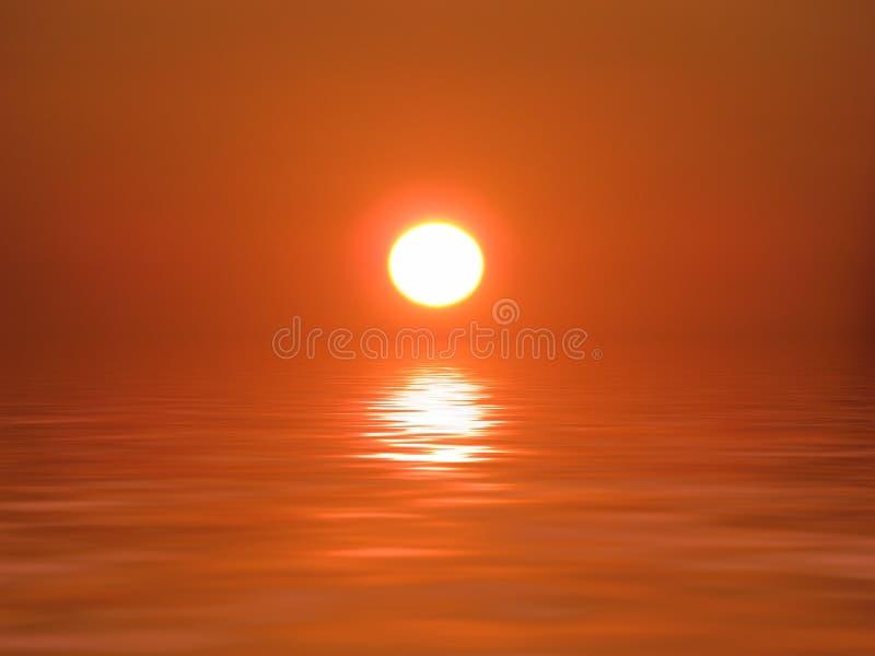 ωκεάνιος ήλιος διανυσματική απεικόνιση