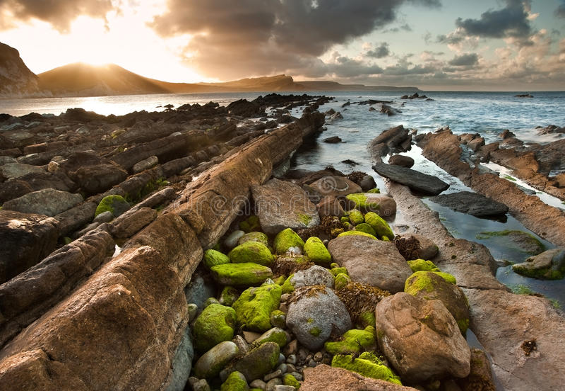 Ωκεάνιος κόλπος Mupe τοπίων ανατολής στοκ εικόνα με δικαίωμα ελεύθερης χρήσης