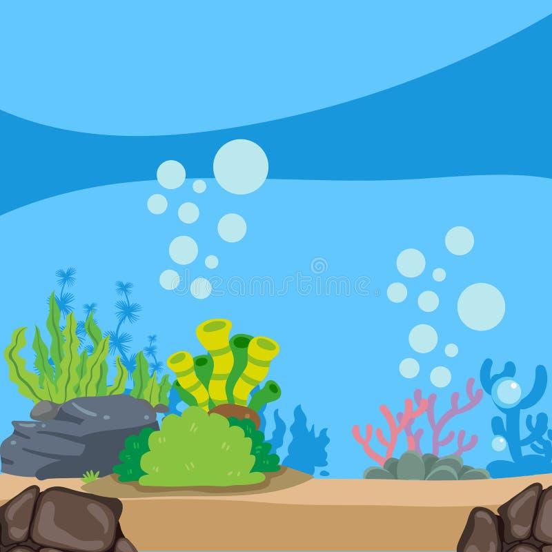 Ωκεάνιο διανυσματικό σχέδιο υποβάθρου απεικόνιση αποθεμάτων