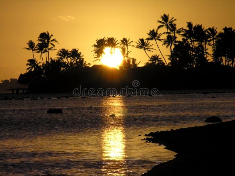 ωκεάνιο ηλιοβασίλεμα φ&om στοκ εικόνα