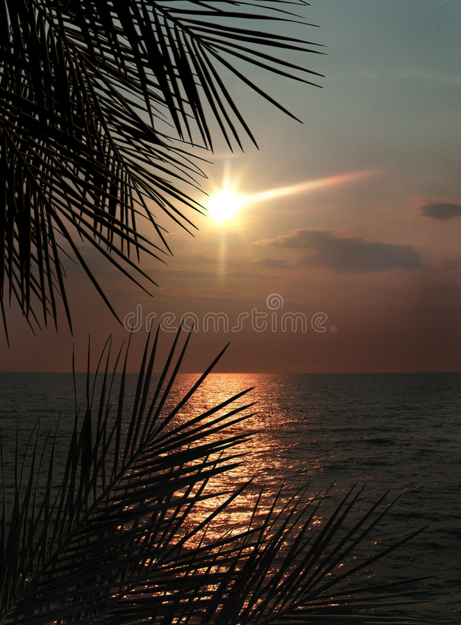 ωκεάνιο ηλιοβασίλεμα φ&om ελεύθερη απεικόνιση δικαιώματος
