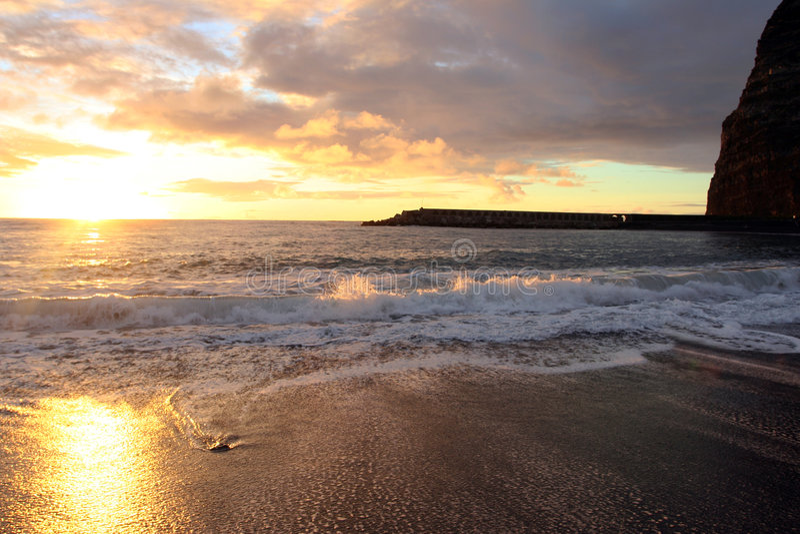 ωκεάνιο ηλιοβασίλεμα στοκ φωτογραφία με δικαίωμα ελεύθερης χρήσης