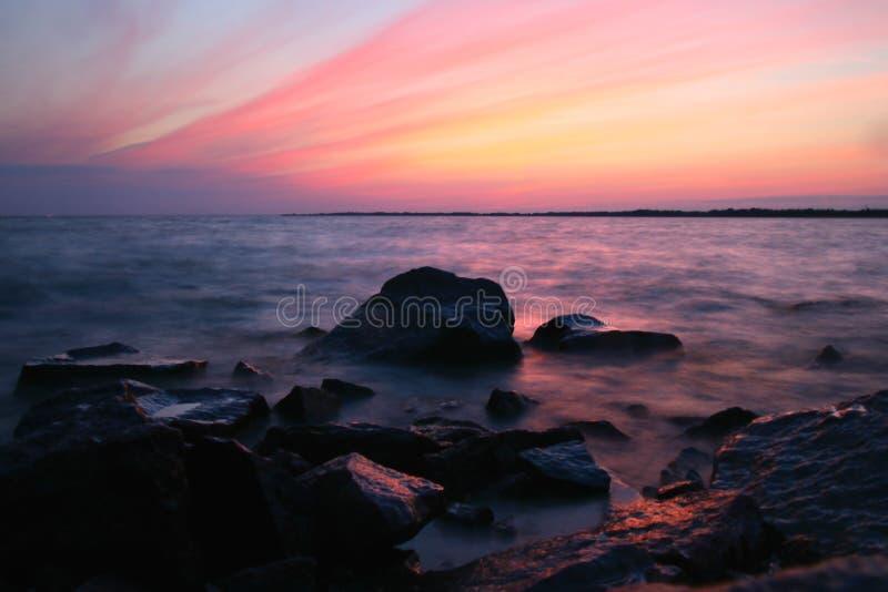 ωκεάνιο ηλιοβασίλεμα Στοκ Φωτογραφίες