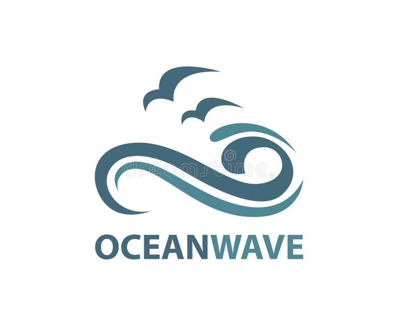 Ωκεάνιο λογότυπο κυμάτων ελεύθερη απεικόνιση δικαιώματος