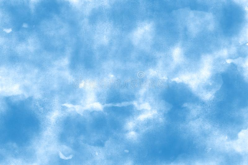 Ωκεάνιο μπλε υπόβαθρο σύστασης εγγράφου υδατοχρώματος θέματος στοκ εικόνα
