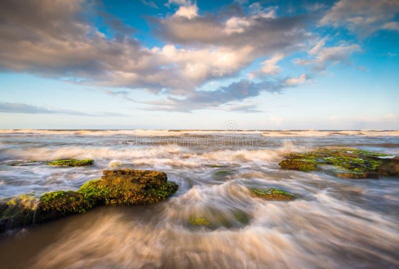 Ωκεάνιο τοπίο παραλιών του ST Augustine Φλώριδα φυσικό στοκ εικόνες