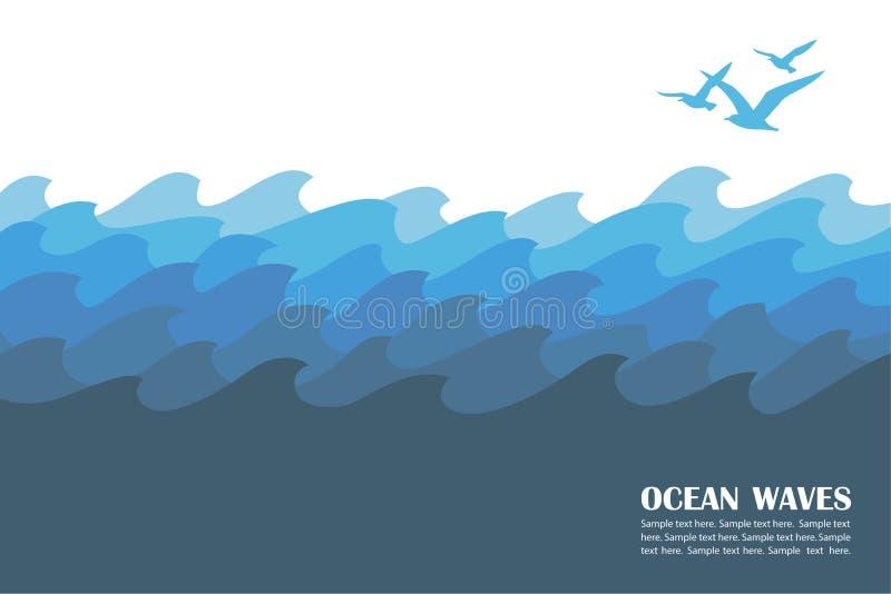 Ωκεάνιο υπόβαθρο κυμάτων ελεύθερη απεικόνιση δικαιώματος
