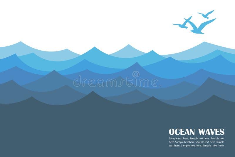 Ωκεάνιο υπόβαθρο κυμάτων απεικόνιση αποθεμάτων