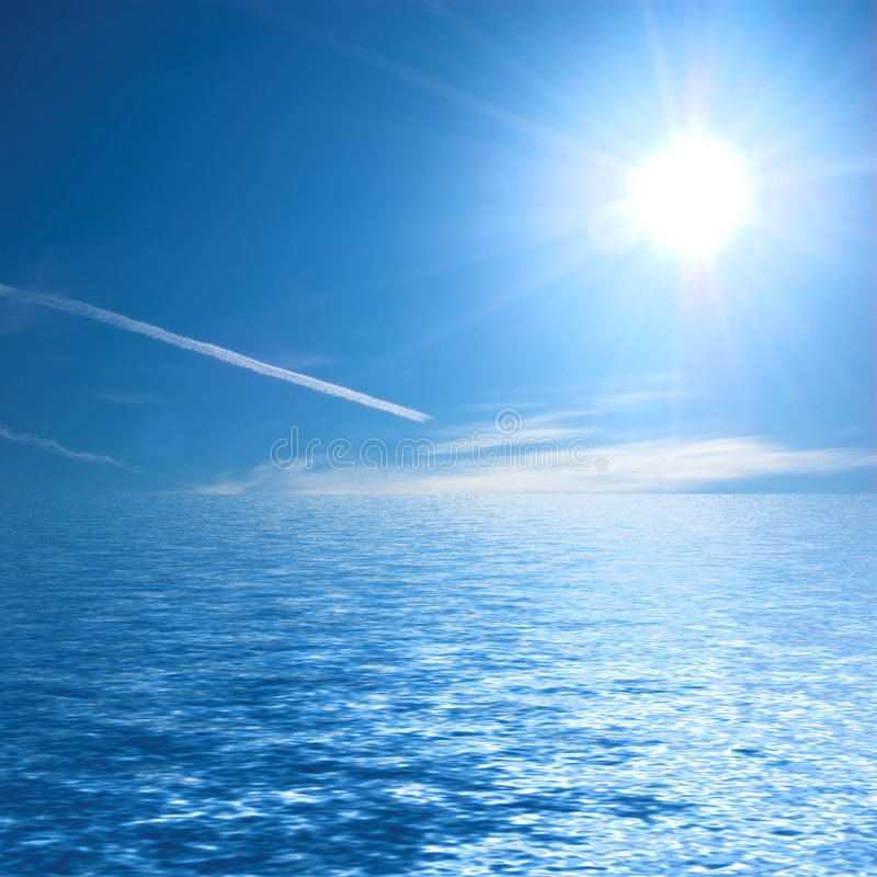 ωκεανός ηλιόλουστος στοκ φωτογραφία με δικαίωμα ελεύθερης χρήσης