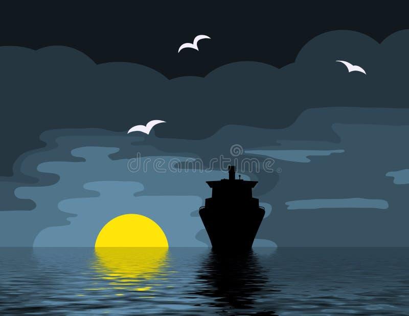 ωκεανός κρουαζιέρας απεικόνιση αποθεμάτων