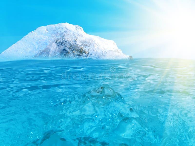 ωκεανός παγόβουνων στοκ εικόνες