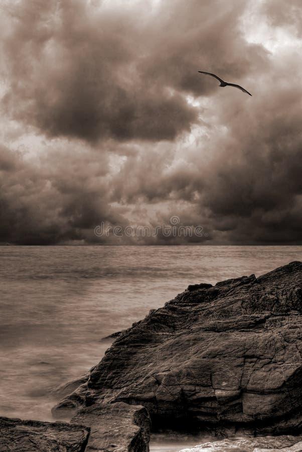 ωκεανός τοπίων θυελλώδης στοκ φωτογραφία