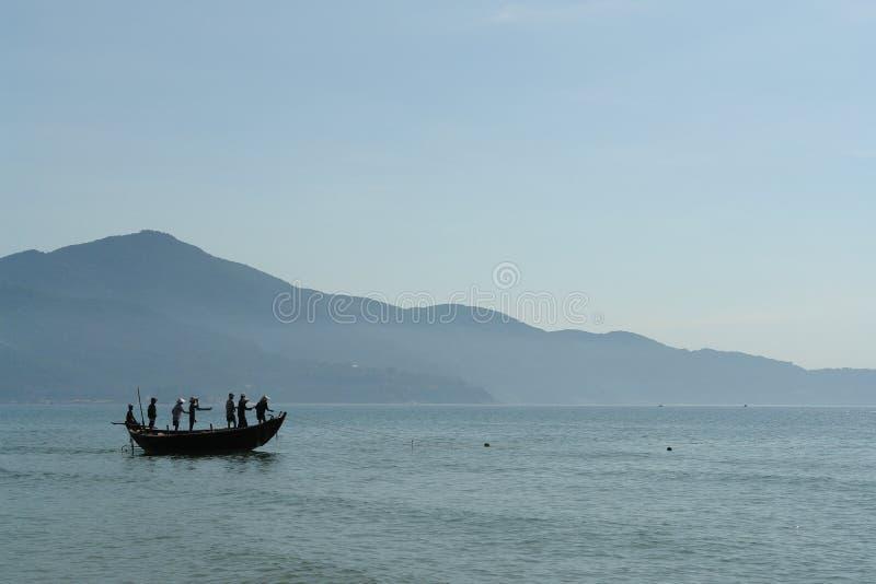 ωκεανός DA βαρκών nang στοκ εικόνες