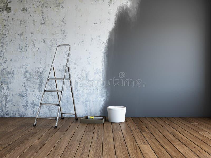 δωμάτιο επισκευής στοιχείων σχεδίου διανυσματική απεικόνιση
