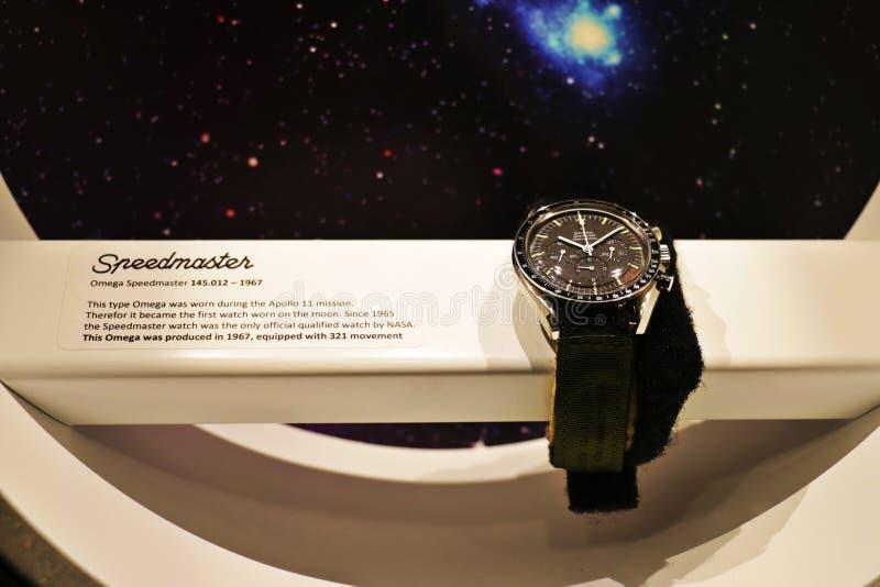 Ωμέγα ρολόι Speedmaster στοκ εικόνα