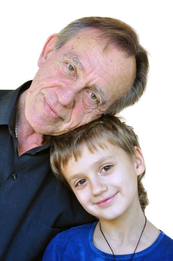 Ωριμασμένος πατέρας με το γιο στοκ φωτογραφία