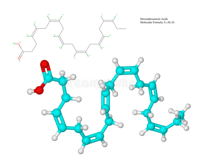 Ω3脂肪酸(DHA) 库存例证