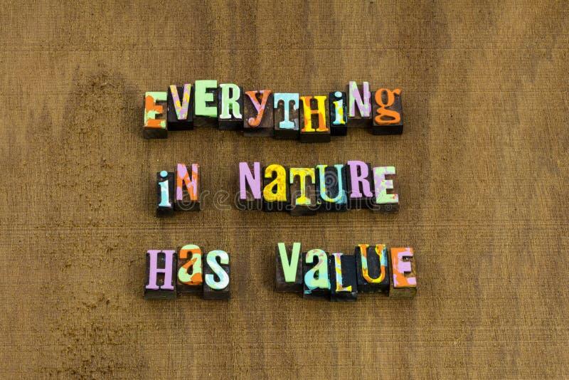 Όλα γήινη ημέρα αξίας περιβάλλοντος φύσης προστατεύουν το απόσπασμα στοκ εικόνα με δικαίωμα ελεύθερης χρήσης