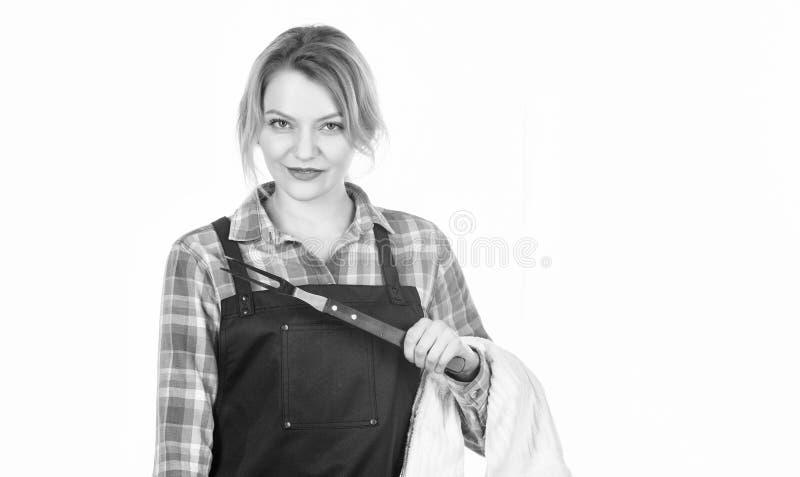 Όλα πρέπει να είναι τέλεια r o o Κουζίνα λαβής γυναικών στοκ εικόνες