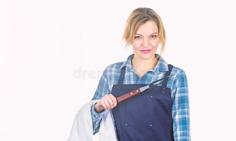 Όλα πρέπει να είναι τέλεια r o o Κουζίνα λαβής γυναικών στοκ φωτογραφία