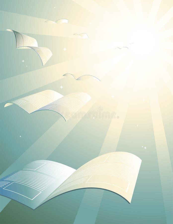όλα τα βιβλία πηγαίνουν ο&upsi απεικόνιση αποθεμάτων