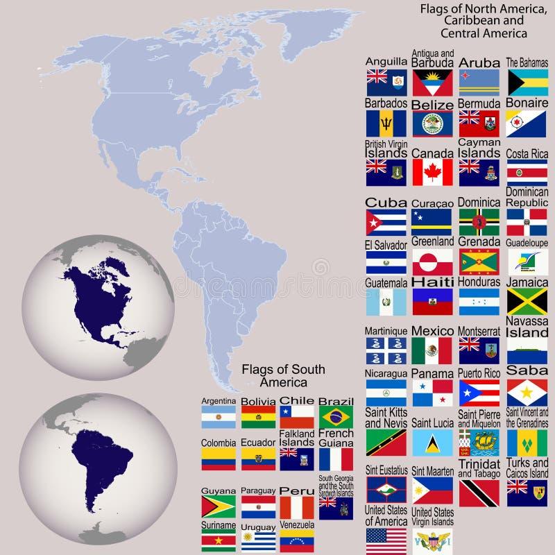 όλες οι σημαίες της Αμερ& ελεύθερη απεικόνιση δικαιώματος