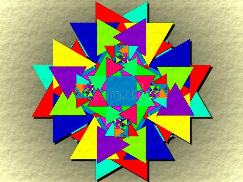 Όλοι που γίνονται με τα τρίγωνα απεικόνιση αποθεμάτων