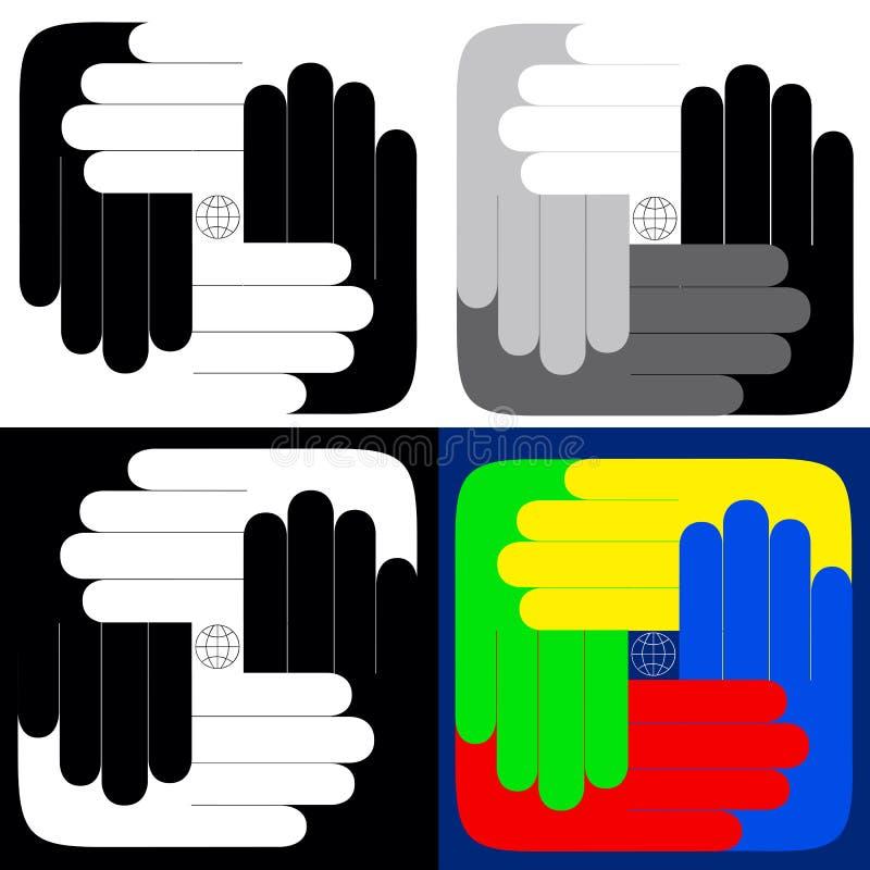 όλος ο κόσμος χεριών σας στοκ εικόνα