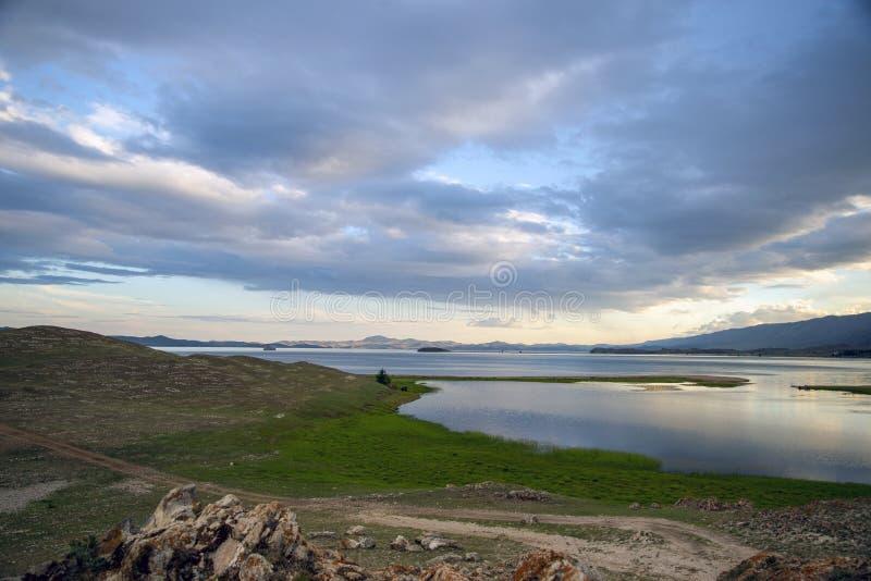 Όλχον Μπαικάλ Τοπία της λίμνης Baikal Φύση της λίμνης Baikal στοκ φωτογραφίες με δικαίωμα ελεύθερης χρήσης