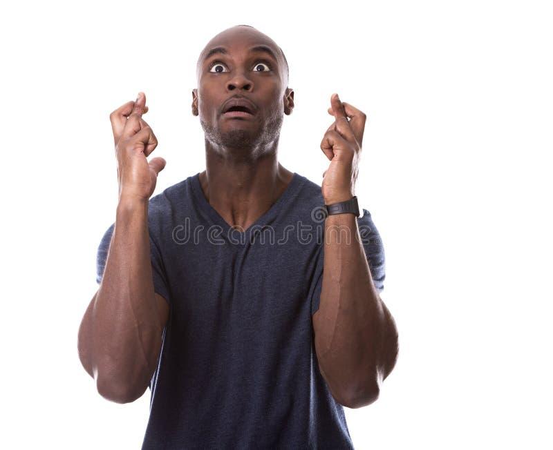 Όμορφα δάχτυλα μαύρων που διασχίζονται στοκ φωτογραφία με δικαίωμα ελεύθερης χρήσης