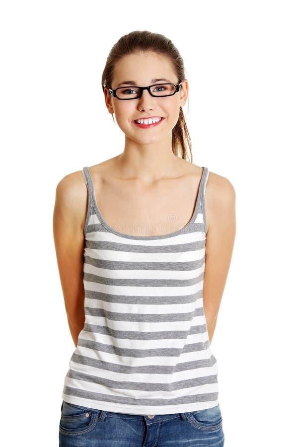 όμορφα θηλυκά γυαλιά προ&s στοκ φωτογραφία με δικαίωμα ελεύθερης χρήσης