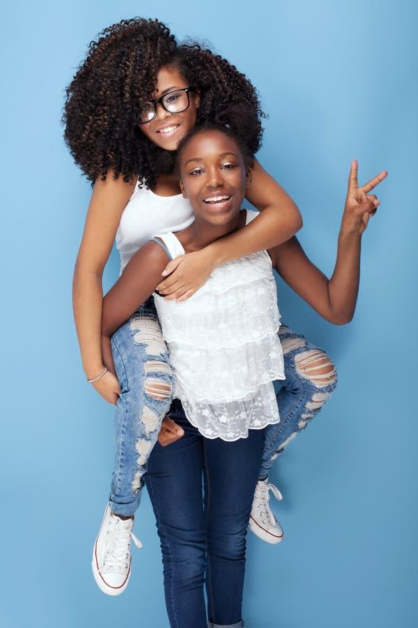 Όμορφα κορίτσια που έχουν τη διασκέδαση στοκ εικόνα με δικαίωμα ελεύθερης χρήσης