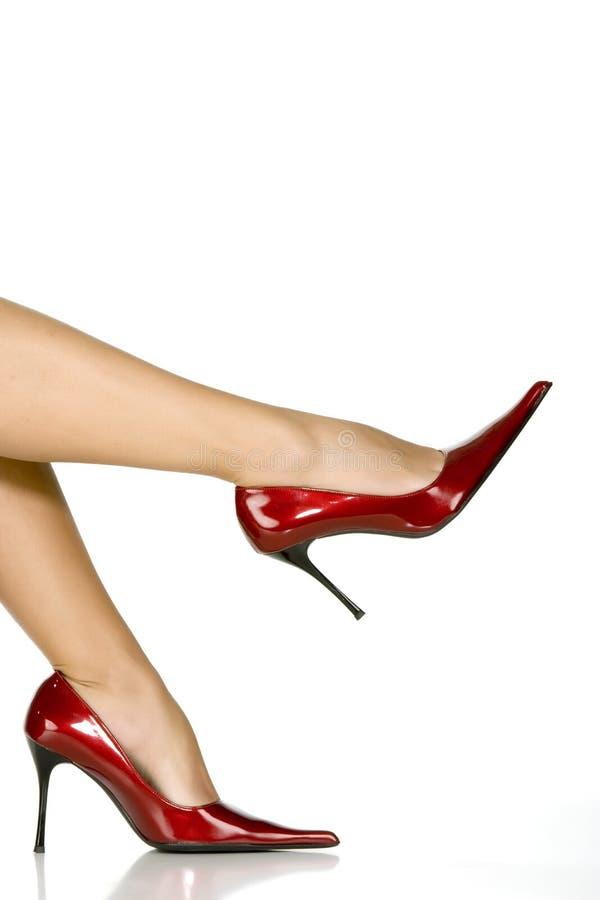 όμορφα κόκκινα παπούτσια π&om στοκ εικόνες