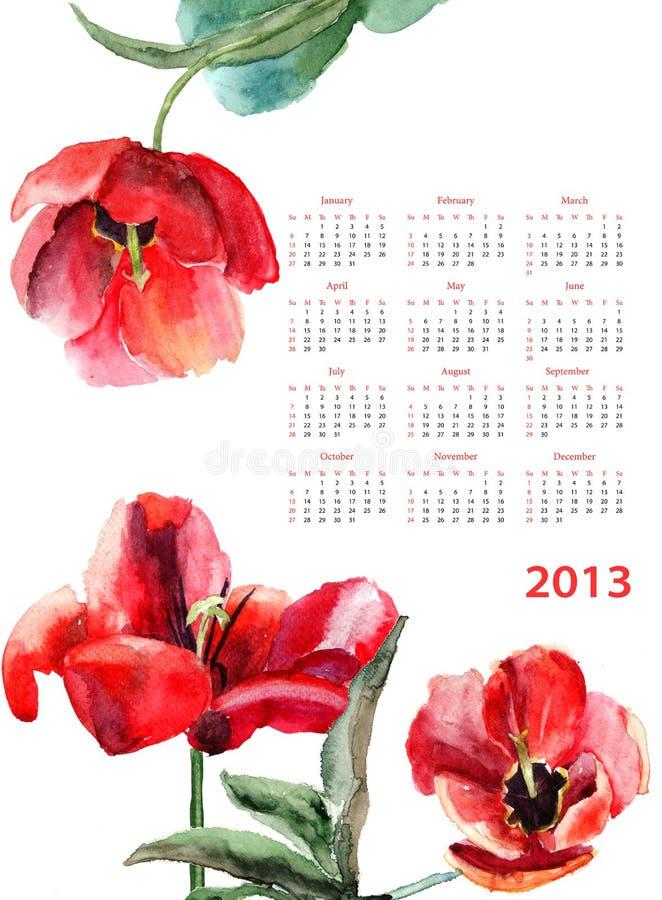 Όμορφα λουλούδια τουλιπών Στοκ Εικόνα